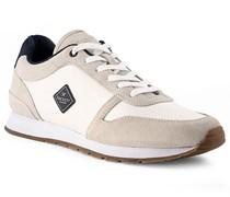 Schuhe Sneaker Veloursleder -beige