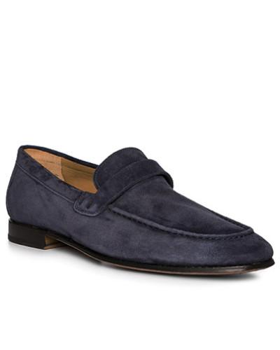 Schuhe Loafer, Veloursleder, marine