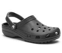 Herren Schuhe Pantoletten, Gummi, schwarz
