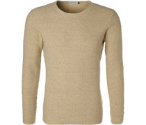 Pullover Baumwolle hell meliert