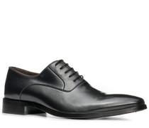 Herren Schuhe Oxford, Kalbleder, anthrazit grau