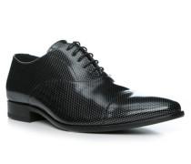 Herren Schuhe ZAMIR, Kalbleder, schwarz-silber