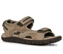 Schuhe Sandalen Leder-Textil