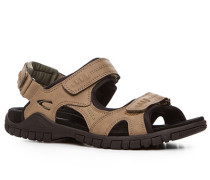 Herren Schuhe Sandalen Microfaser taupe braun