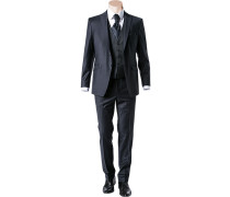 Herren Anzug, Slim Line, optional mit Weste, Woll-Stretch, nachtblau