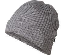 Herren Mütze, Wolle, grau