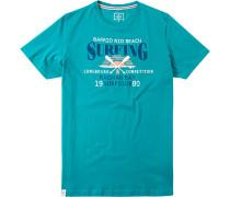 Herren T-Shirt Baumwolle türkis