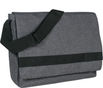 Herren Messenger Bag, Microfaser, grau meliert