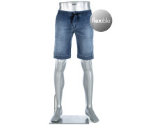Jeansshorts, Regular Slim Fit, Baumwoll-Stretch 9oz