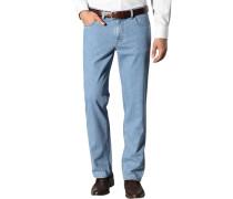 Herren Jeans, Baumwoll-Stretch, denimblau