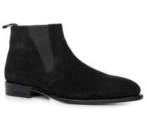 Herren Schuhe Stiefelette Veloursleder schwarz