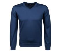Herren Pullover, Modern Fit, Merinowolle, blau