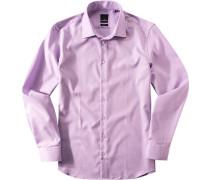 Herren Hemd Modern Fit Baumwolle viola-weiß meliert violett