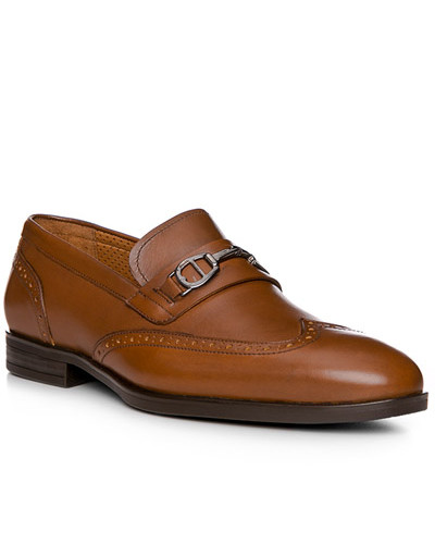 Aigner Herren Schuhe Loafer, Kalbleder, cognac