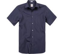 Herren Hemd, Modern Fit, Baumwolle, marine blau