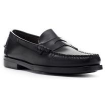 Herren Schuhe Loafer, Rindleder, schwarz