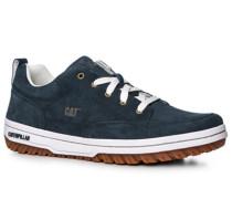 Herren Schuhe Sneaker, Leder, navy blau