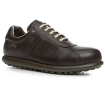 Herren Schuhe Sneaker Leder dunkel