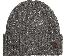 Herren  Mütze Woll-Mix grau meliert