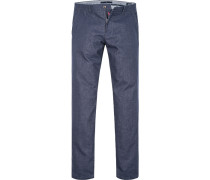 Herren Hose Chino Modern Fit Baumwoll-MIx denim