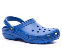 Herren Schuhe Pantoletten, Gummi, azurblau