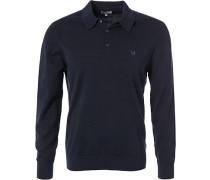 Herren Polo-Shirt, Baumwolle, navy blau
