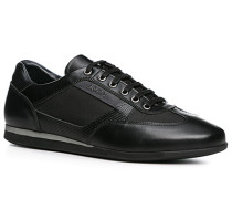Herren Schuhe Sneaker Kalbleder-Nylon schwarz
