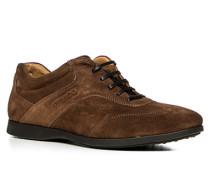 Herren Schuhe Sneaker Veloursleder braun