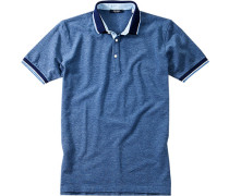 Herren Polo-Shirt Baumwoll-Piqué jeansblau