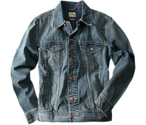 Herren Jacke, Casual Fit, Denim, blau