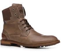 Herren Schuhe Stiefeletten, Kalbleder, taupe gemustert braun