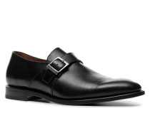 Herren Schuhe Monkstraps, Kalbleder, schwarz