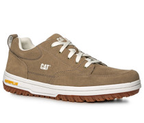 Herren Schuhe Sneaker, Veloursleder, beige