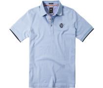 Herren Polo-Shirt Baumwoll-Piqué hellblau