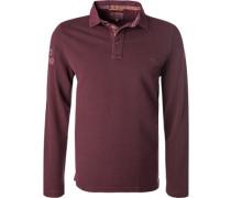Herren Polo-Shirt, Baumwolle, bordeaux rot
