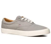 Herren Schuhe Sneaker, Twill, hellgrau