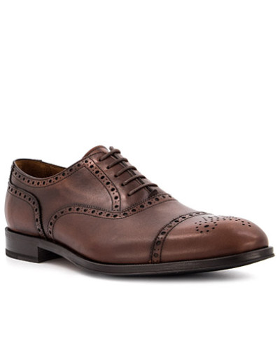 Schuhe Budapester, Leder, kastanien