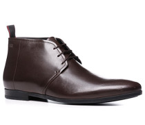 Herren Schuhe Desert Boots Glattleder dunkelbraun braun,schwarz