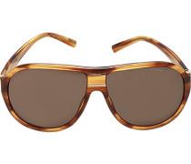 Herren Brillen Sonnenbrille, Kunststoff, bernstein gemustert braun
