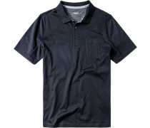 Herren Polo-Shirt Baumwoll-Jersey nachtblau