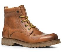 Herren Schuhe Schnür-Stiefel Kalbleder warm gefüttert camel braun,beige