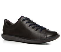 Herren Schuhe Sneaker Leder dunkelbraun