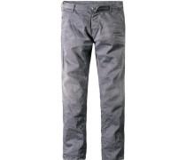Herren Jeans Slim Fit Baumwoll-Stretch grau