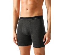Herren Unterwäsche Boxershorts Techno-Wool klimaregulierend anthrazit grau