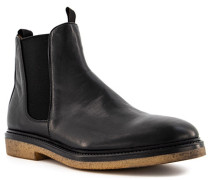 Schuhe Chelsea Boots Leder warmgefüttert nero