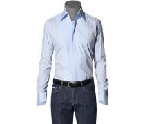 Herren Hemd Baumwolle-Stretch hellblau