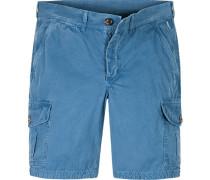 Herren Hose Shorts Baumwolle blau