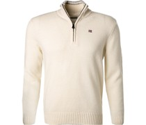 Pullover Troyer Lammwolle creme