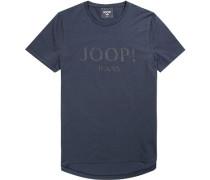 Herren T-Shirt Baumwolle navy