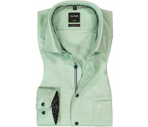 Hemd Modern Fit Baumwolle  meliert